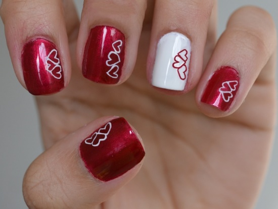 1 Heart shape nail design
