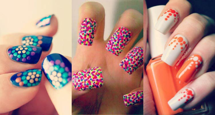 Dot nail paint design