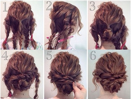 Messy Twists hairstyle steps