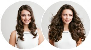 extension of curly hair