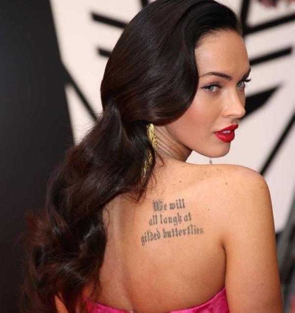 Megan Fox Back Tattoo