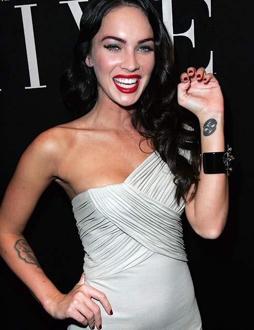 Megan Fox Yin-Yang Symbol Tattoo