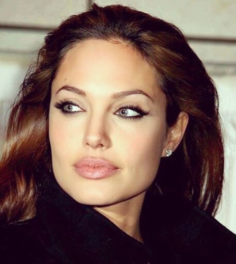 dark lipstick used by angelina