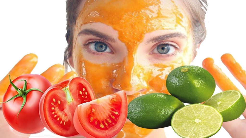Tomato lemon face mask
