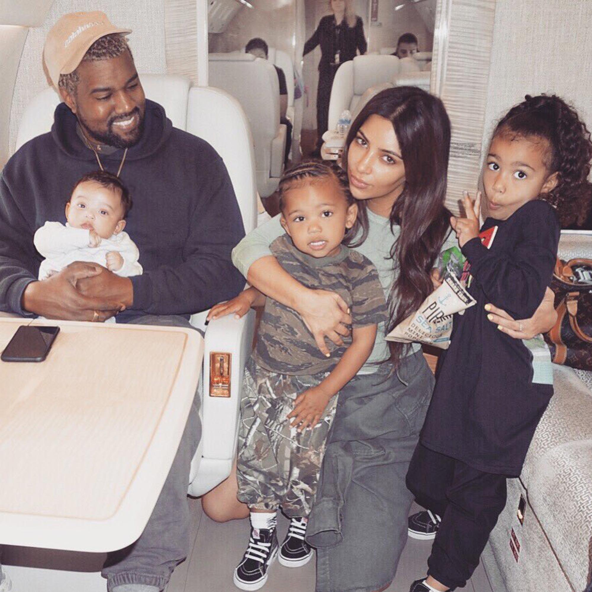 kim with kids