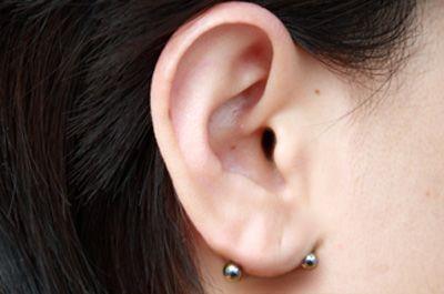 Transverse Lobe Piercing
