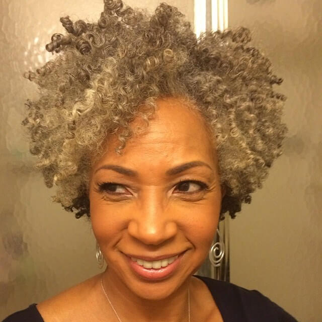 African American Curly Hairstyle Hairstyle for women above 50
