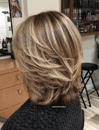 Medium Layered Hairstyle With Bob Hairstyle for women above 50