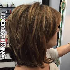 Medium Layered Hairstyle Hairstyle for women above 50
