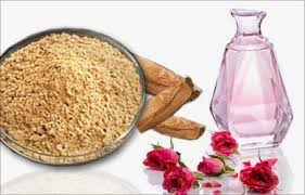 sandal water +rosewater acne scar home remedy