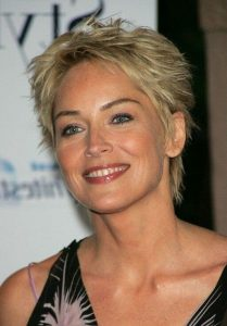 Sharon Stone Hairstyle for women above 50