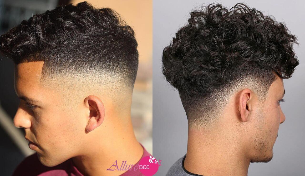 drop fade curly hair