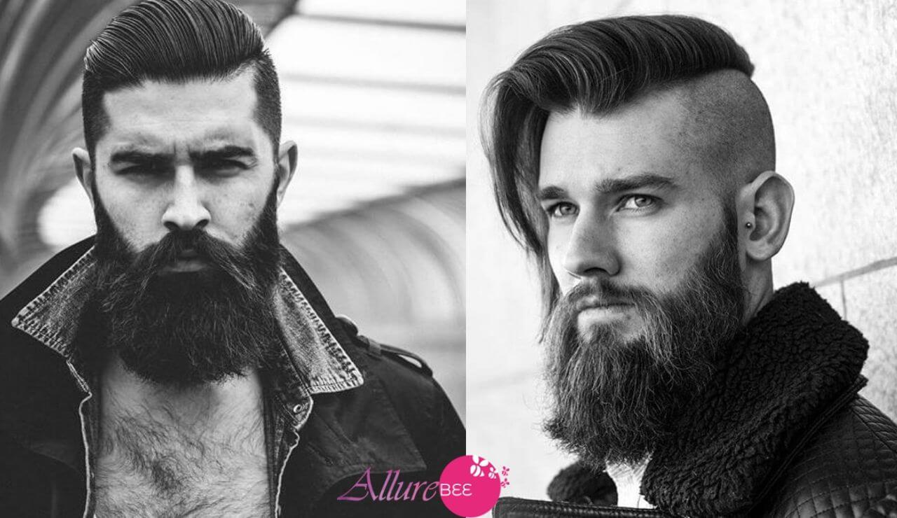 Side-swept Undercut with Beard