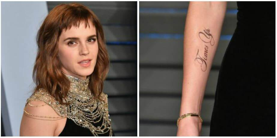 Emma Watson Times Up Tattoo + Meaning