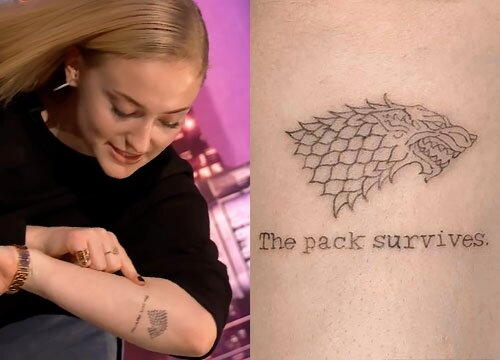 The pack survives:Female celebrity tattoos