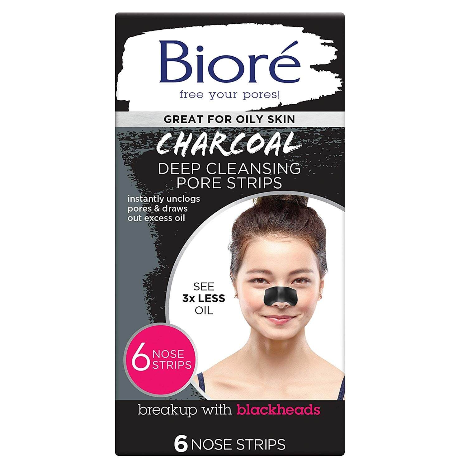 Bioré Charcoal Deep Cleansing Pore Strips