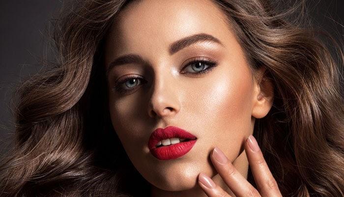 Dark Red Lip Color