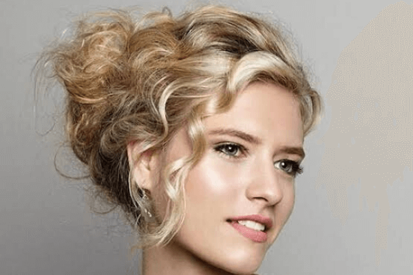 Elegant Updo for Natural Curly Hair