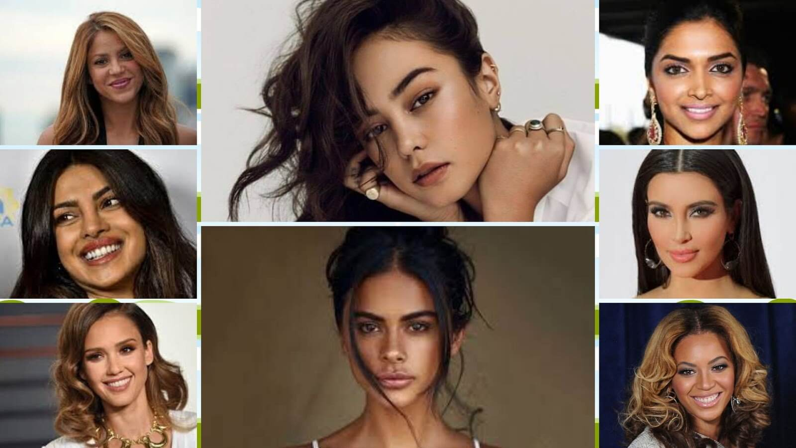 Some famous olive skin women